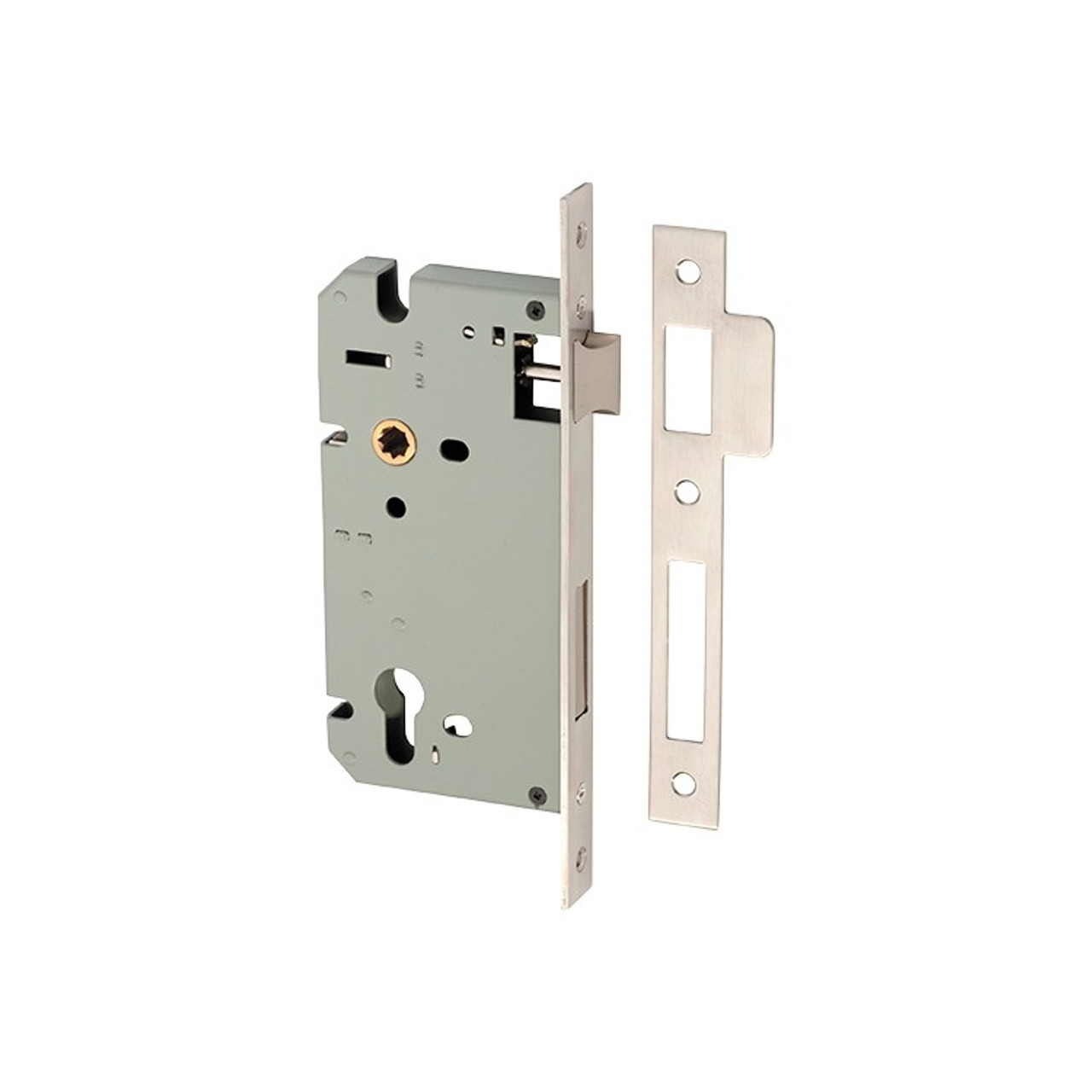 Tradco Mortice Lock Euro SS 60mm Backset Stainless Steel 8504