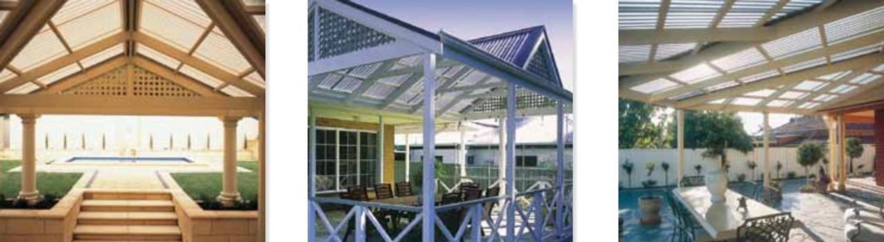 Laserlite 1000 Corro Polycarbonate Roofing Standard per L/M