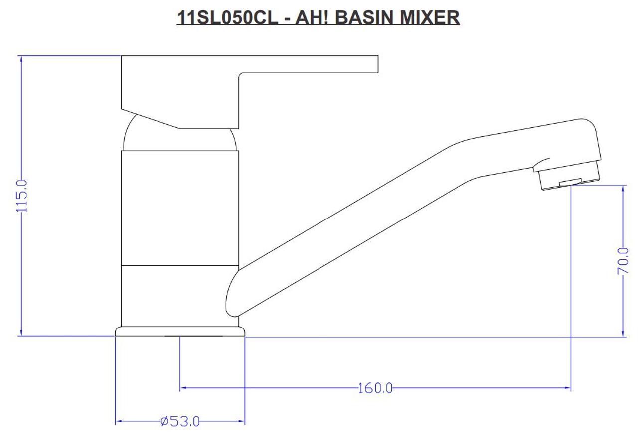 Ah Basin Mixer 11SL050CL