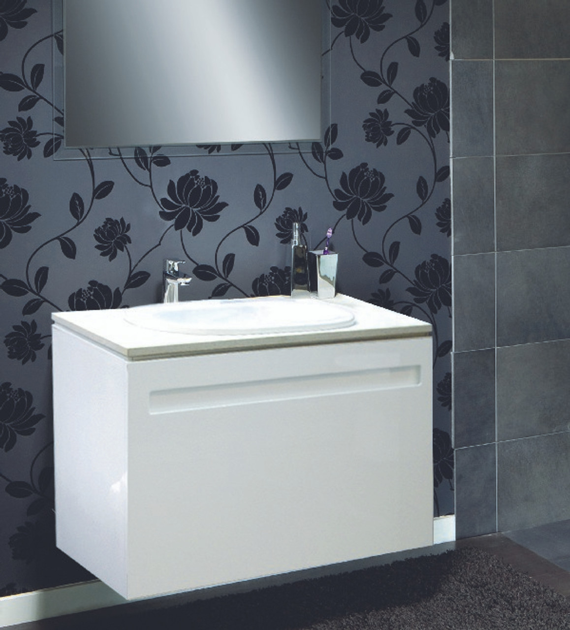 Argent Lucent 800 Vanity With Onovo Drop In Basin