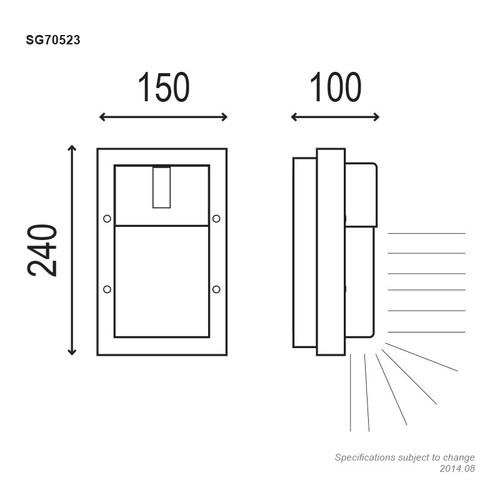 Oriel Ludo Mini Black Outdoor Wall Light IP65 E27 Premium Powdercoated SG70523BK
