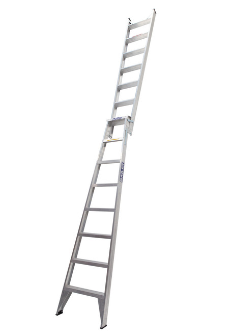 Bailey Dual Purpose Ladder Aluminium 150kg 2.4-4.4m Trade DP8 FS13434