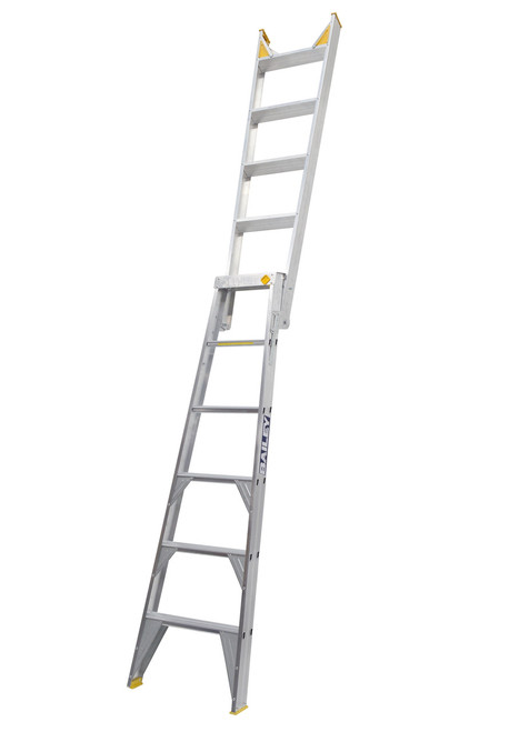 Bailey Dual Purpose Ladder Aluminium 150kg 1.8-3.2M Professional DP6 FS13395