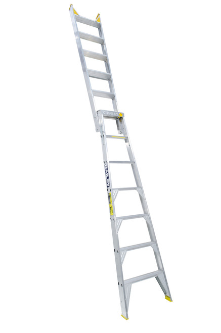 Bailey Dual Purpose Ladder Aluminium 150kg 2.1-3.8m Professional DP7 FS13396