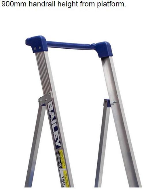 Bailey Platform Ladder Aluminium 150kg Platform Height 0.9m Trade FS13327