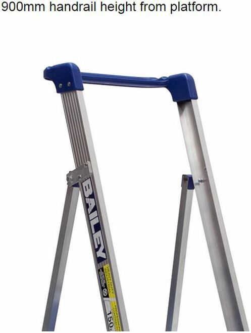 Bailey Platform Ladder Aluminium 150kg Platform Height 1.2m Trade FS13328