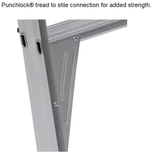 Bailey Step Ladder Double Sided Aluminium 150kg 1.8m Professional FS13388