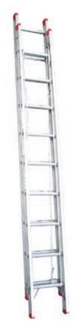 Indalex Extension Ladder Aluminium 120Kg 3.8-6.6M TRDX22
