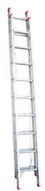 Indalex Extension Ladder Aluminium 120Kg 3.8-6.6M TRDX22