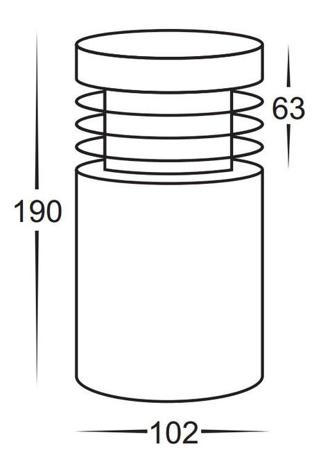 Havit Mini Stainless Steel Bollard Light 190mm 12v MR16 5w LED HV1605MR16W