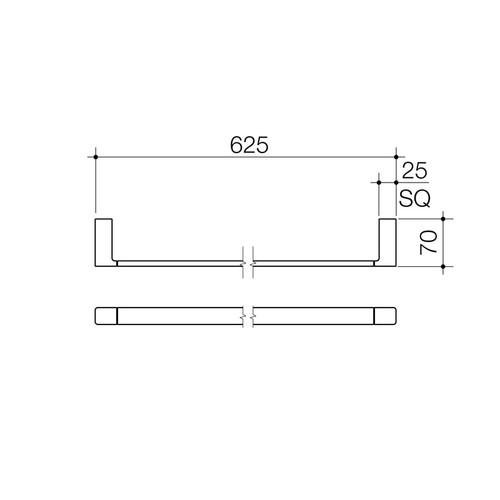 Dorf Epic Single Towel Rail 600mm 6424.04