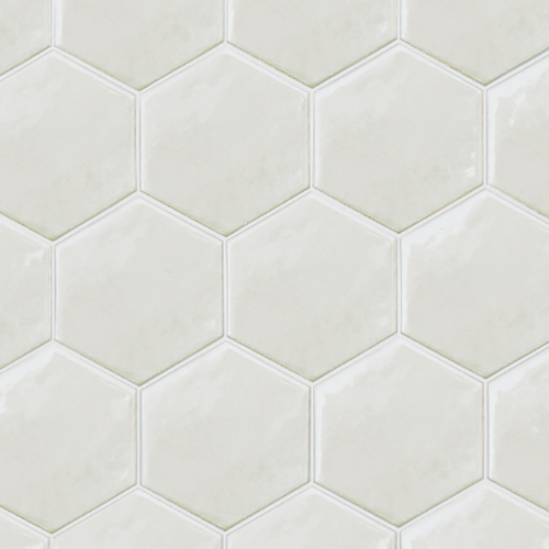 Ace Tiles Hexatile 175x200 Brillo Gloss Gris Claro Porcelain Wall Tile AC-3043D 35 Pack