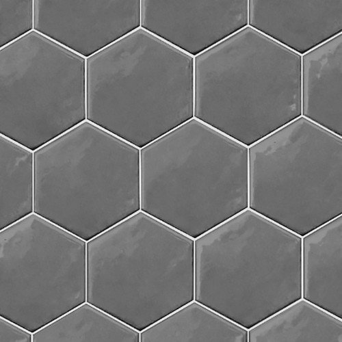Ace Tiles Hexatile 175x200 Brillo Gloss Gris Oscuro Porcelain Wall Tile AC-3043E 35 Pack