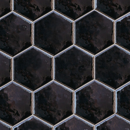 Ace Tiles Hexatile 175x200 Brillo Gloss Negro Porcelain Wall Tile AC-3043F 35 Pack