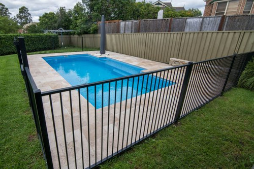 Flat Top Pool Panel 1200h x 2400w PC:Black Fence
