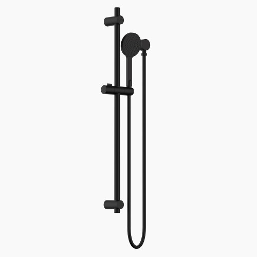 Round Rail Shower Matte Black