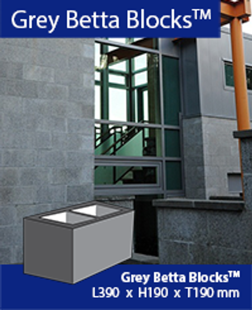 Baines Masonry Grey Betta Block Hollow H 200 Series