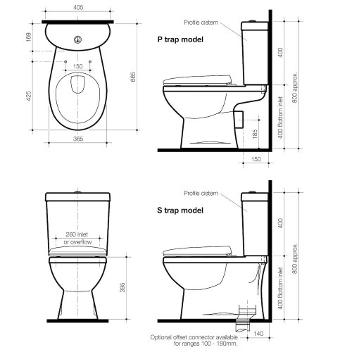 Caroma Tempo Close Back To Wall Toilet Suite 924085W