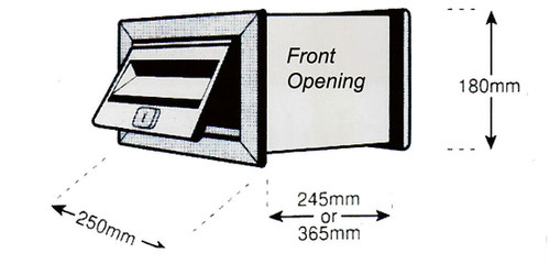MCH No2 Stainless Steel Wall Front Opening Letterbox 500666