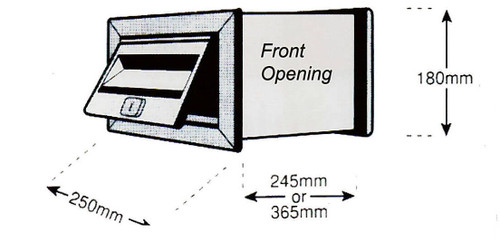 MCH No1 Stainless Steel Wall Front Opening Letterbox 500642