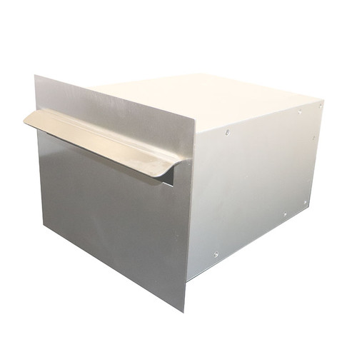 A4 Portrait Stainless Steel Back Opening Letterbox HGSSPBK