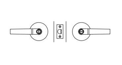 Lockwood Enable Cylindrical Privacy Leverset KL17D20SC Satin Chrome