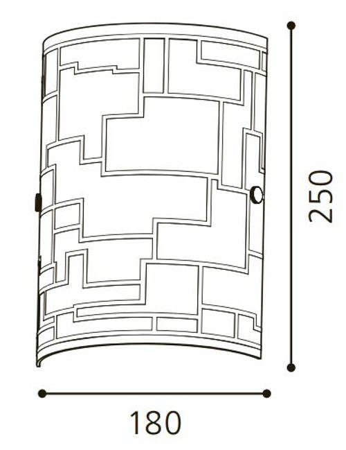 Eglo Bayman 1 X 60W E14 W/B Glass/Chrome 92564
