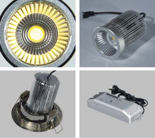 Telbix LED Retro Fit Downlight 12w 60* Warm White/White MODULE16-830