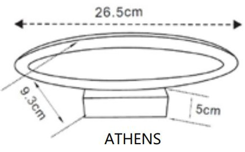 CLA Athens Led Interior Wall Lamp 6W 636Lm Non-Dimmable ATHENS