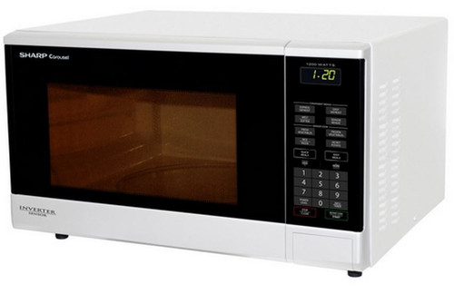 Sharp 1200W White Microwave R350YW