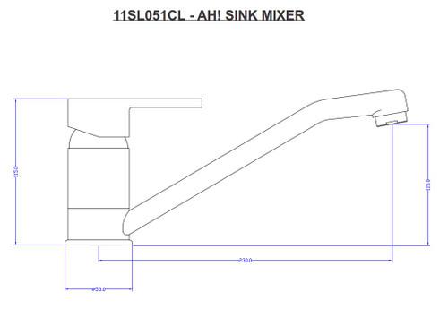 Ah Sink Mixer 11SL051CL