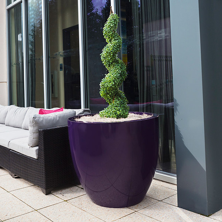 The Wannsee Large Fiberglass Tree Planter by Jay Scotts in Purple