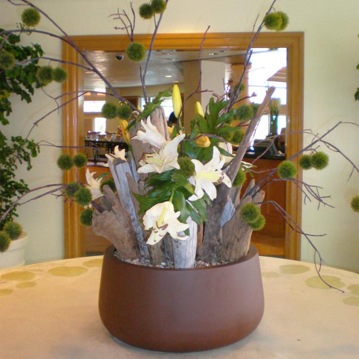 Short Hayden Tabletop Planter Pot plant arrangement