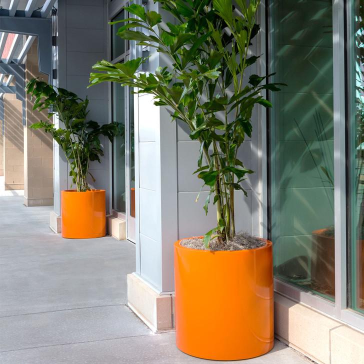Rio Grande Modern Cylinder planter Pot (Orange)