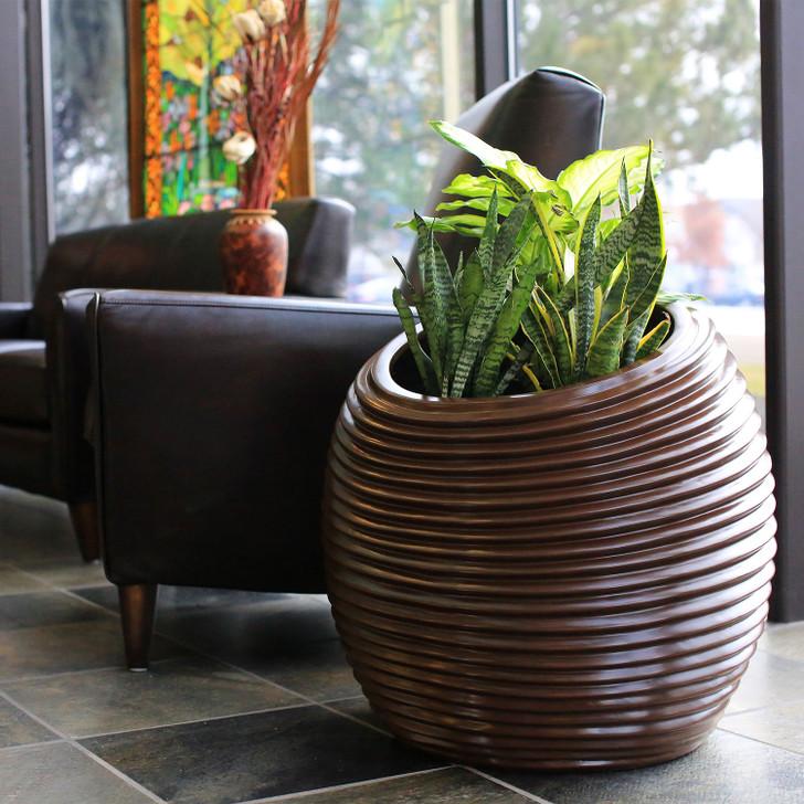 Spiral Distinctive Organic Planter Pot in the office