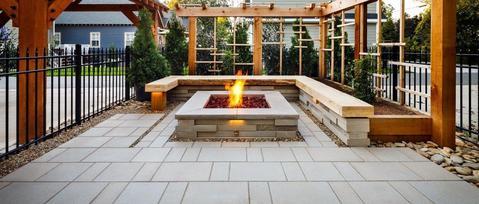 Large Hardscapes Outdoor Firepit