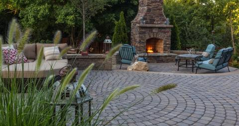 Large Harscapes Outdoor Fireplace