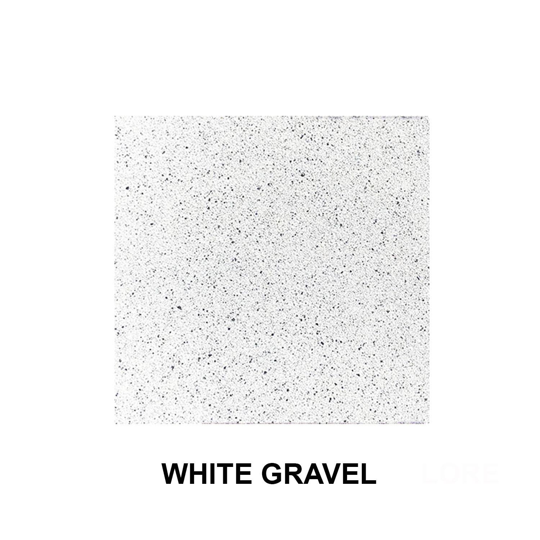 White Gravel Texture Finish