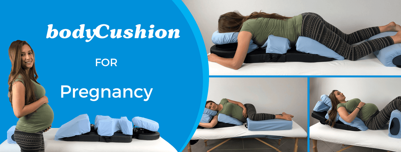 The bodyCushion for Pregnancy works for all positions during early to late-terms.