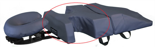 The breastProtector replacing the standard Chest Support in the 3-piece bodyCushion.