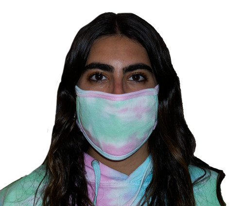 Pastel Rainbow Tie-Dye Oval Fashion Mask