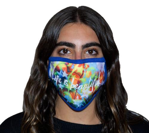 Sublimation Decorated Oval Fashion Mask