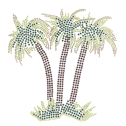 Palm Tree Trio on Grass (S4176)