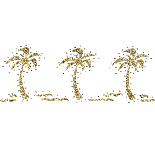 Three Gold Palm Trees  (S6124L)