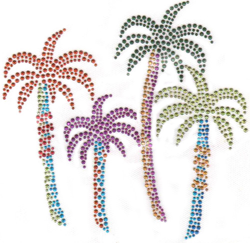 Four Multicolor Palm Trees  (S7960)