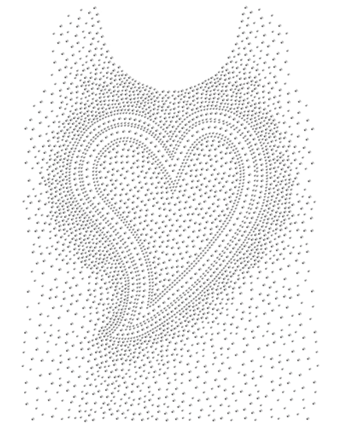 Heart Splash Tank Top Design (S101479)
