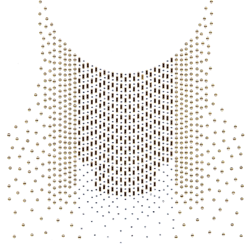 Gold Scoop-Neck & Chest Design (S102017)