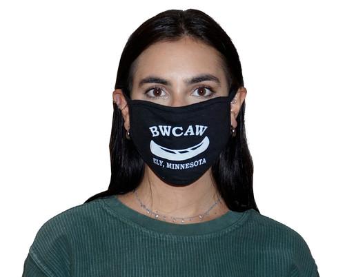 Silkscreen Decorated Oval Fashion Mask