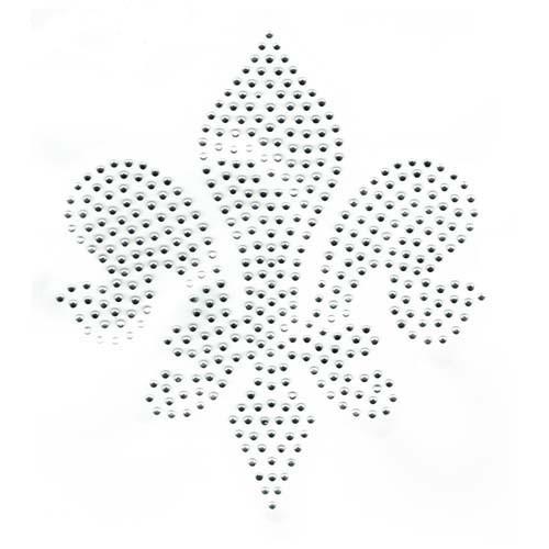 Large Silver Fleur De Lis (S2097)