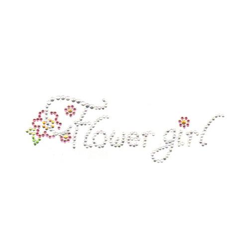Wedding Flower Girl Bridal Party Rhinestone Iron On Design